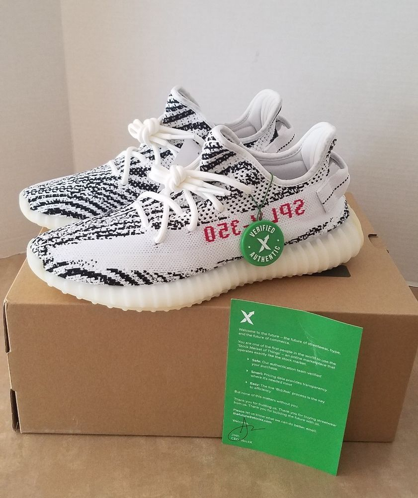 992f27698 BRAND NEW Yeezy boost 350 v2 Zebra Size 9 Stockx Certified  fashion   clothing
