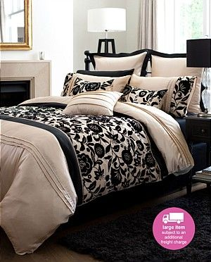 Black and taupe for guest room for the home pinterest for Black white taupe bedroom