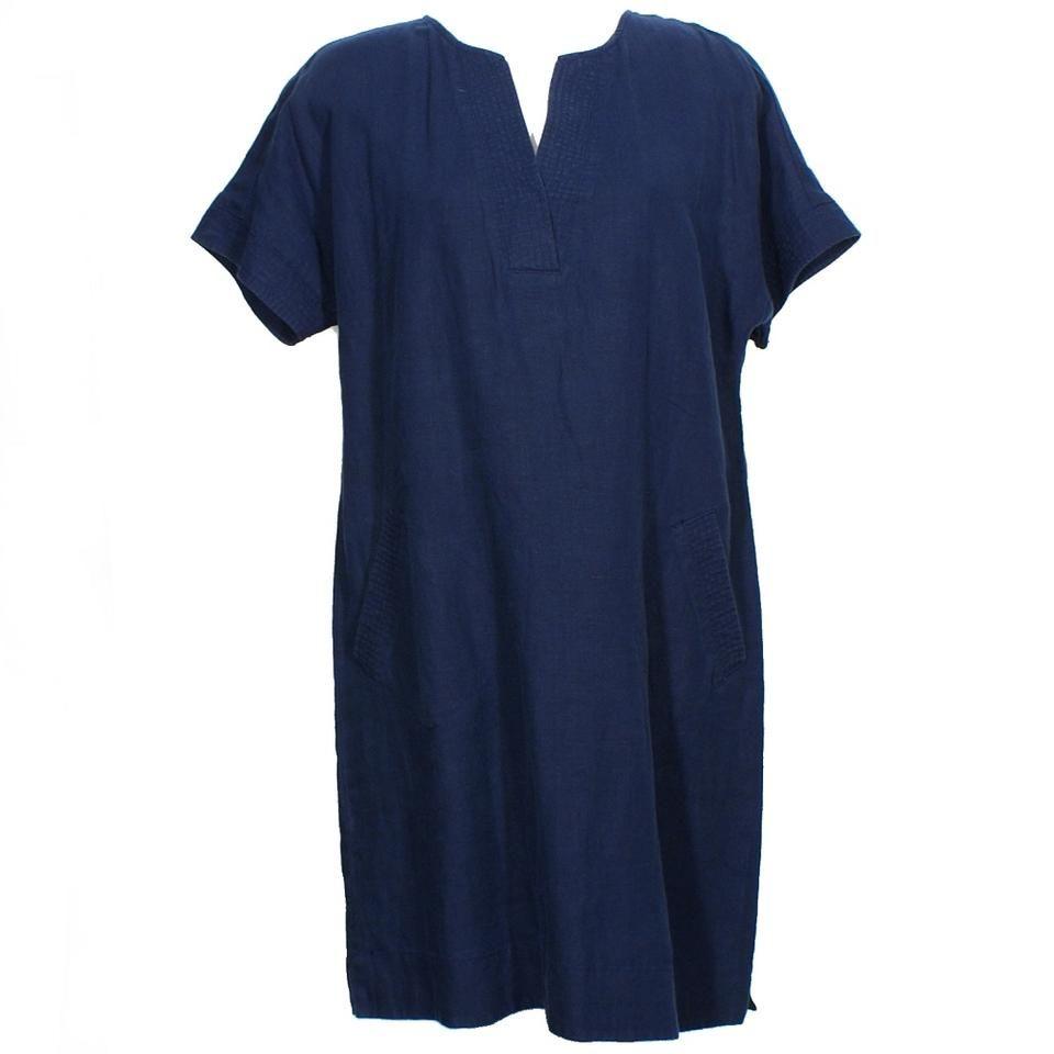 Lauren Ralph | Navy Blue Sleeve Shift 18 Short Casual Dress Size #navyblueshortdress
