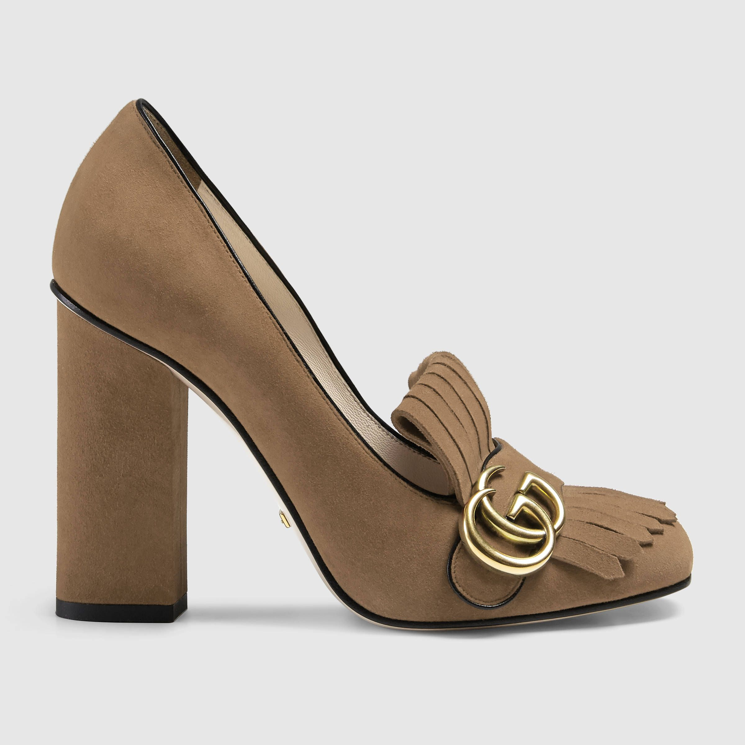 32693f951b01 Gucci Suede Pump ( 790) ❤ liked on Polyvore featuring shoes