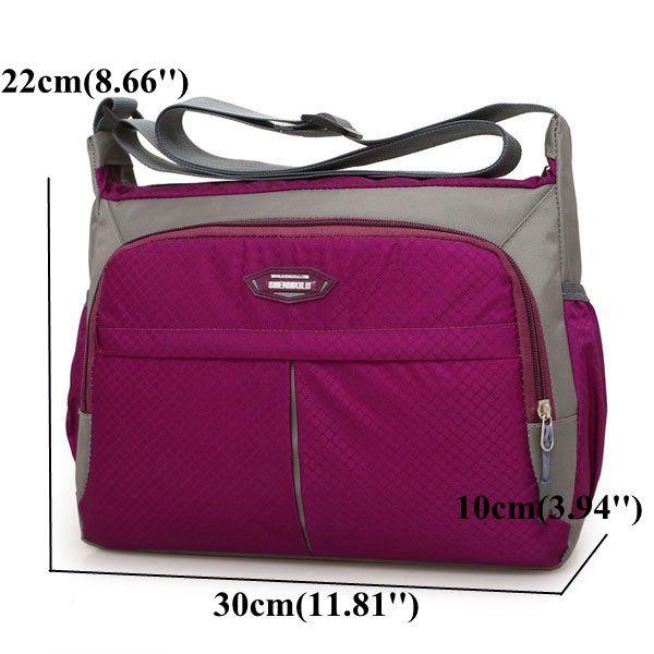 Casual Nylon Waterproof Lightweight Crossbody Bag Shoulder Bag For Women -  US 17.87 4df5cef6cecb9