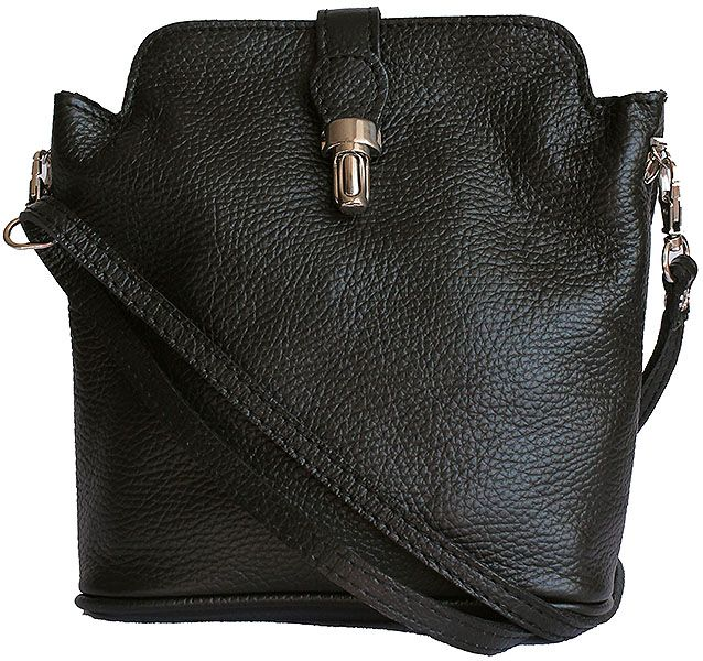 Clasp Lock Black Leather Cross Body Bag Clutch Down To 21 99 From