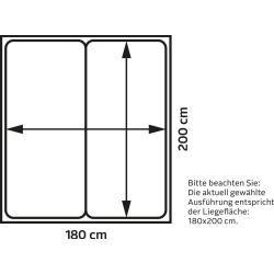 Ada Premium BoxspringBett Base Box weiß H3 Adaada
