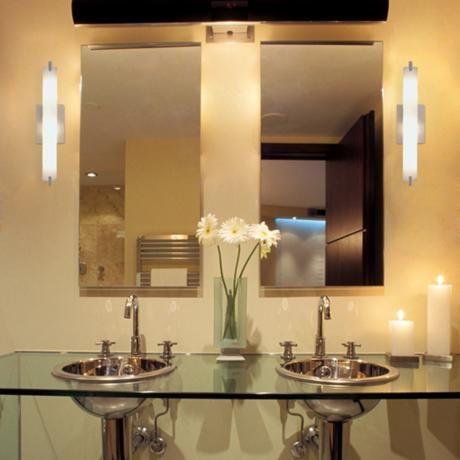 My new bath sconces | Bath | Pinterest | Bathroom light fixtures ...