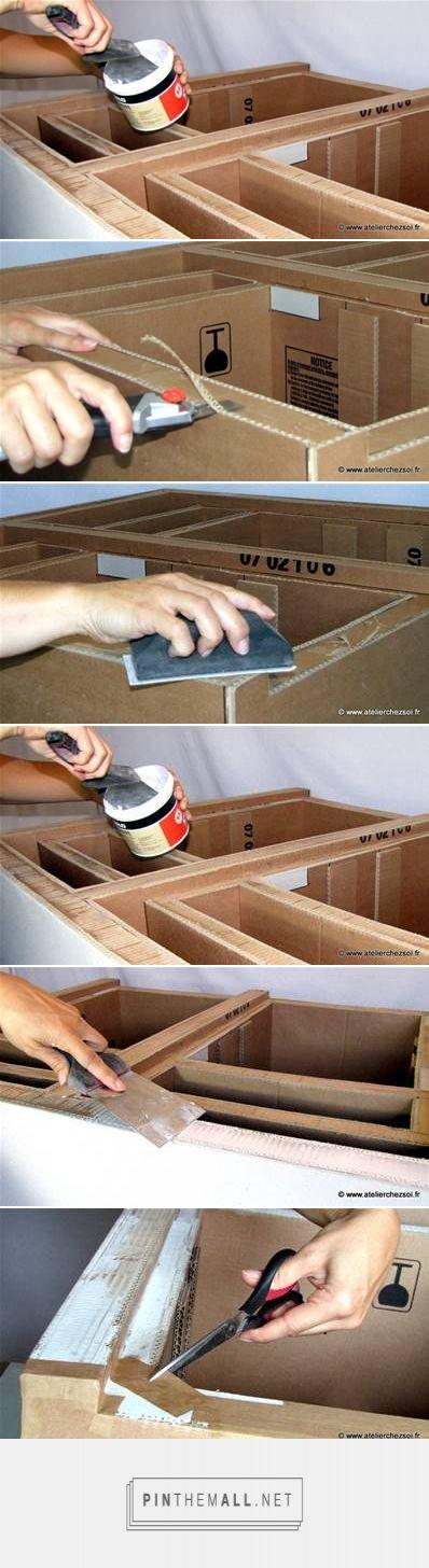 Cardboard Furniture Detailing Design En Carton Bricolages En Carton Meuble En Carton