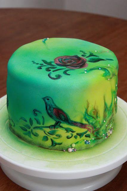 Metunda Universe, Airbrush Cake by Mette Bundgaard