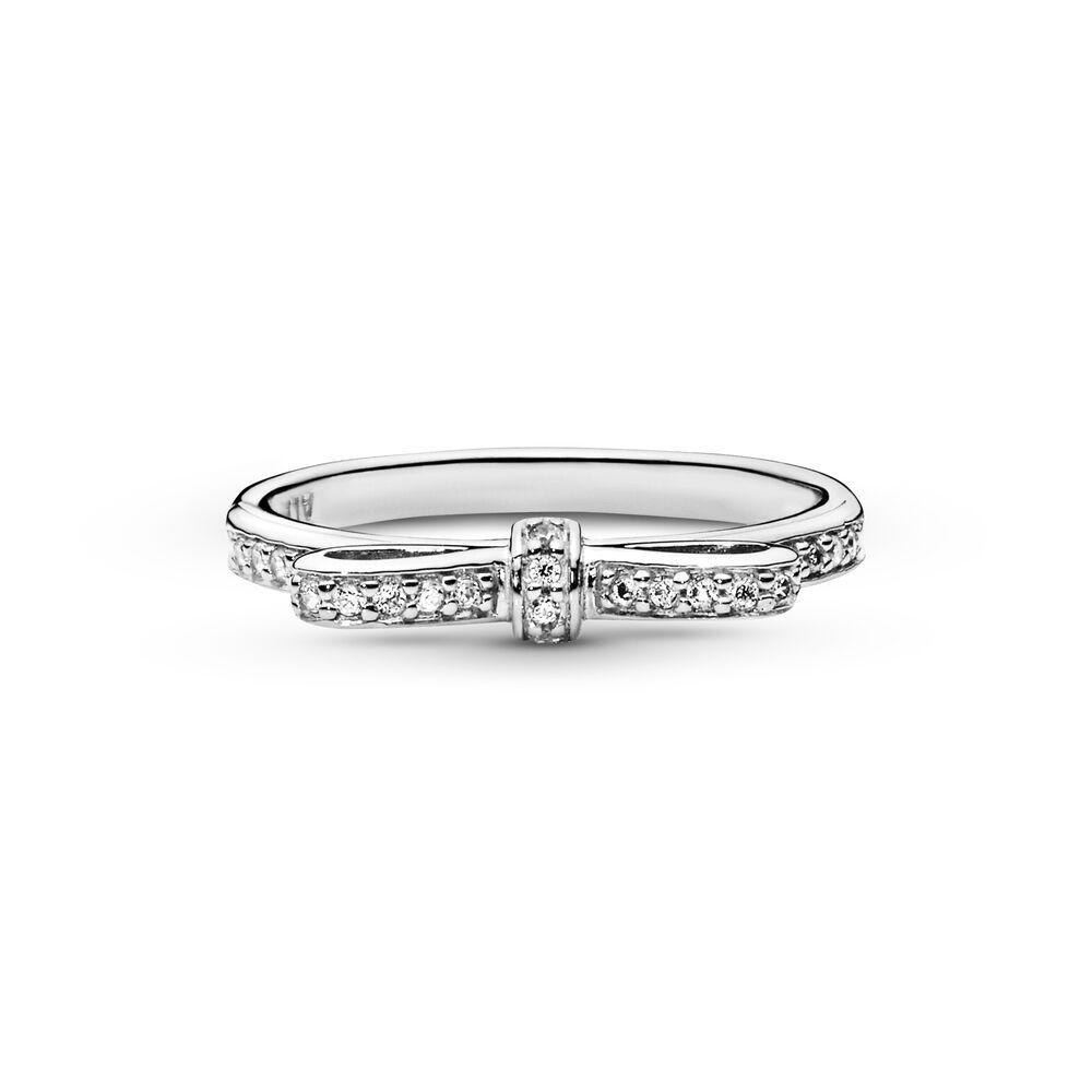 anello pandora fiocco e perla