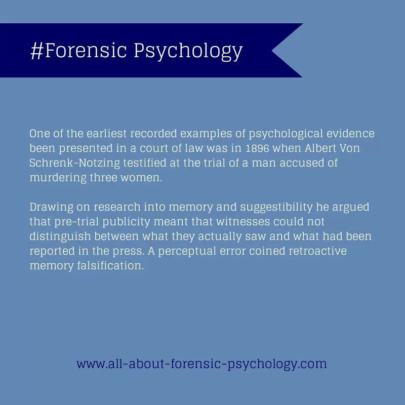 forensic psychology job description what youll do retroactive memory falsification im listening to the compelling verdict statement in the oscar pistorius