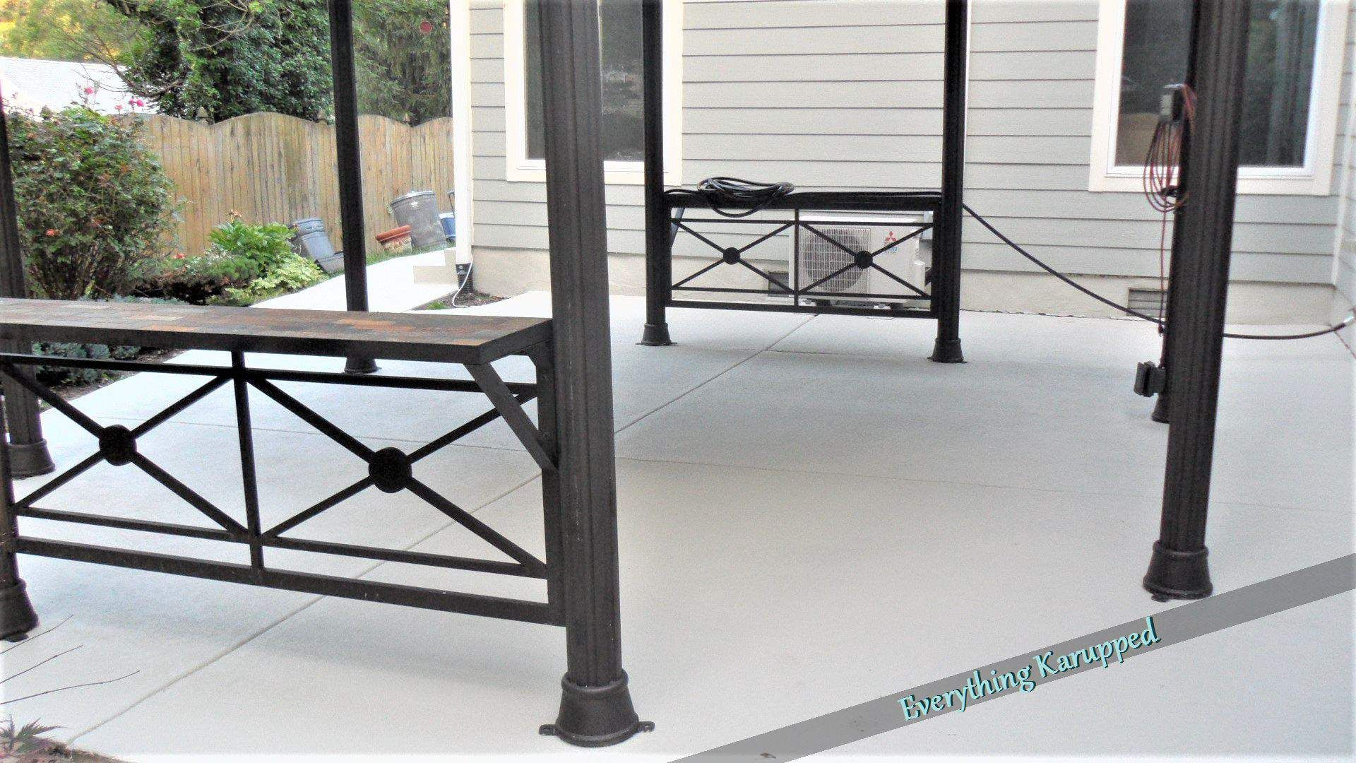 Woohoo Our Painted Concrete Patio Is Done In 2020 Paint Concrete Patio Concrete Patio Painted Patio