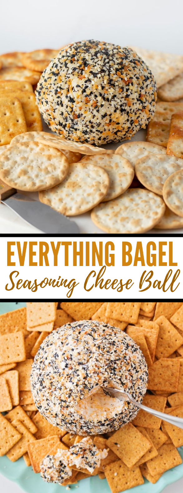 Everything Bagel Seasoning Cheese Ball Recipe – perfect for the holidays! #appetizers #holidayrecipe