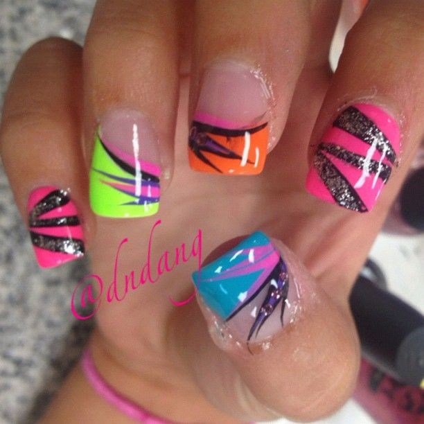 Love the neon tips! - Instagram photo by @dndang via ink361.com ...