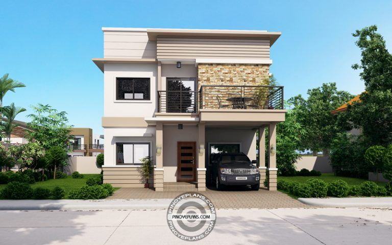 Juliet 2 Story House With Roof Deck Pinoy Eplans 2 Story House Design Two Story House Plans Story House
