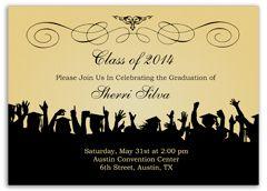 Ribbon Pattern Black Blank Graduation Announcement GRADUATION