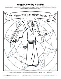 This Activity Is A Color By Number Picture Portraying The Angel Who Came To Joseph In Dream Tell Him Marry Mary And Name Baby Jesus