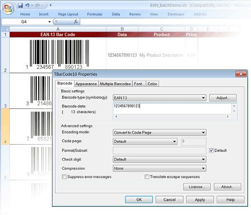 BARCODE GENERATOR SDK The barcode ActiveX control TBarCode enhances