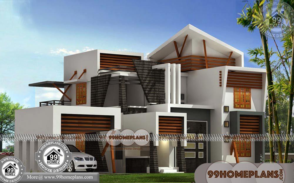 Modern Villa Floor Plans With 2 Storey House Design Plans Having 2 Floor 4 Total Bedroom 3 Total Bathr Kerala House Design Storey Homes 2 Storey House Design