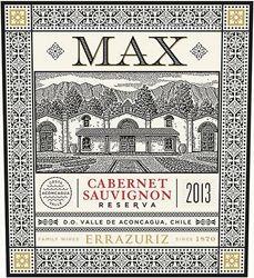 #63 Top 100 Wines 2015  - 92 Points - Errazuriz 2013 Max Reserva Cabernet Sauvignon (Aconcagua Valley)   Wine Enthusiast Magazine