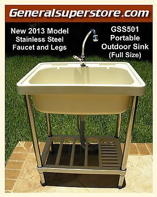 Gss501 Portable Outdoor Sink Garden Camp Camping Rv Kitchen