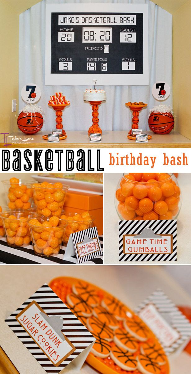 Basketball Birthday Bash Party Ideas Sports And Game