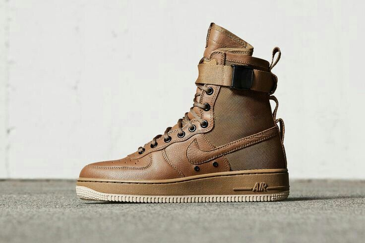Nike Special Forces Air Force 1 Boots Dark Brown Shoes