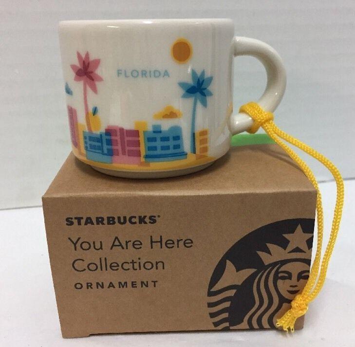 new starbucks florida coffee mini mug ornament you are here palm