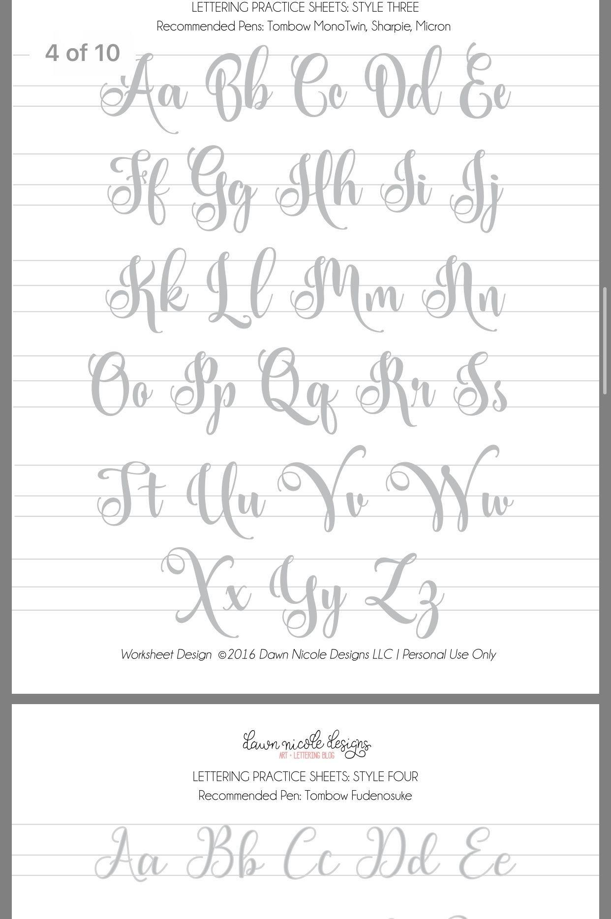Learn hand lettering by Bess Zahradnik on Write Right