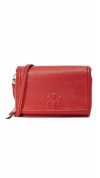 cdbd571c386 TORY BURCH Thea Flat Wallet Crossbody Bag.  toryburch  bags  shoulder bags   leather  crossbody
