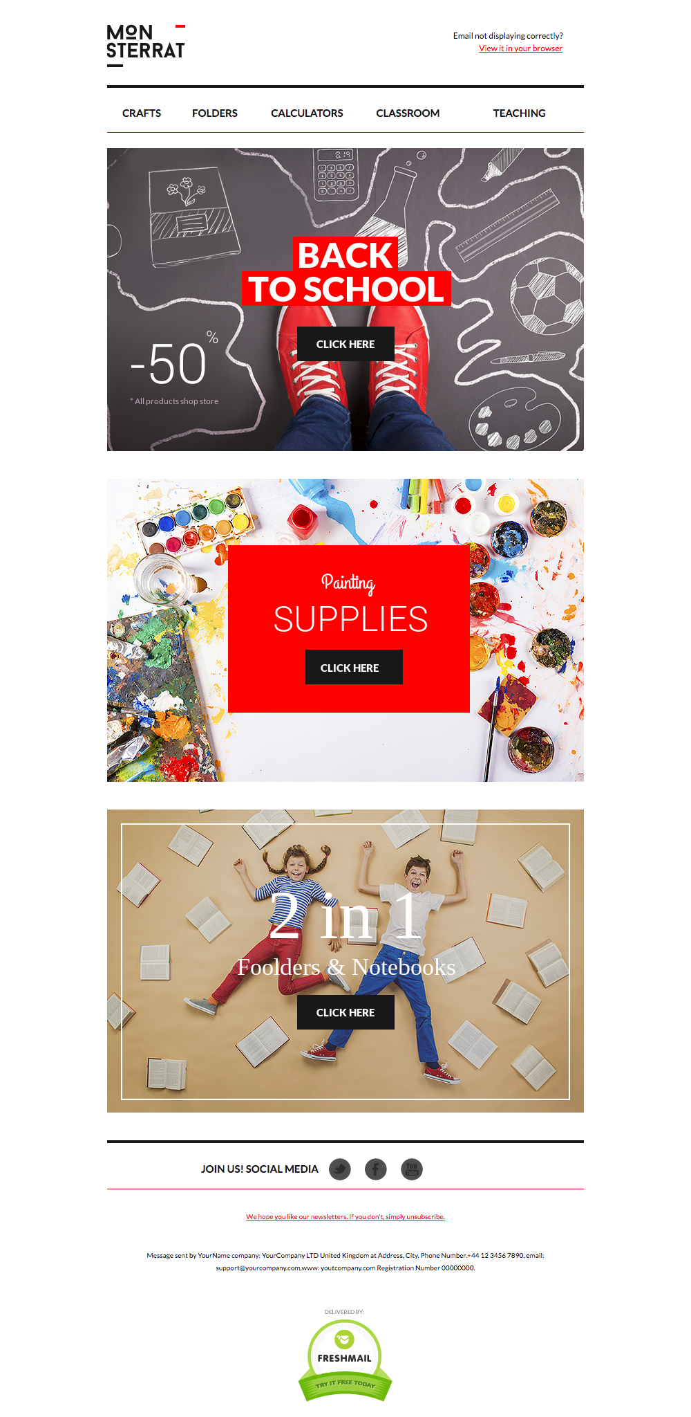 Back To School Newsletter template design ideas & examples for