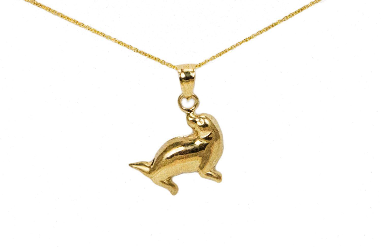 14k Gold Seal Pendant, Large 14k Gold Seal Charm For Charm Bracelet, Wide  14k Gold Seal Necklace, Simple Gold Seal Charms, Big Seal Pendant