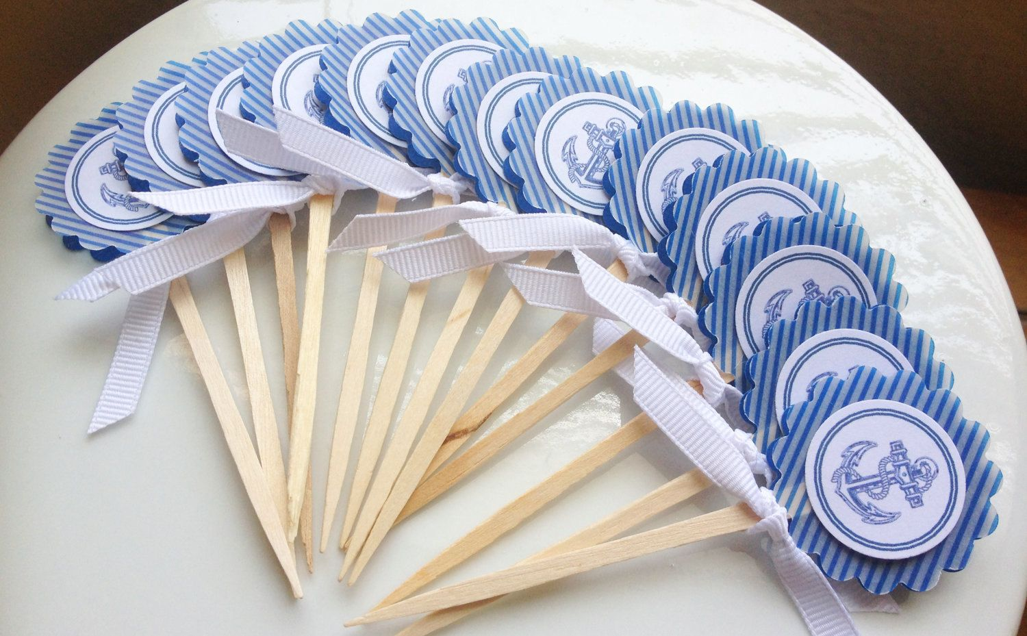 24 Pack Nautical Anchor Theme Cupcake Toppers Party Favors. $16.95 ...