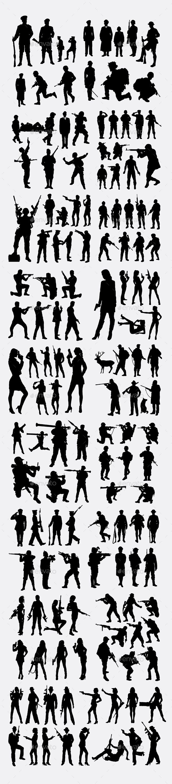 100 Soldier Police Silhouettes Army Pinterest Silhouettes