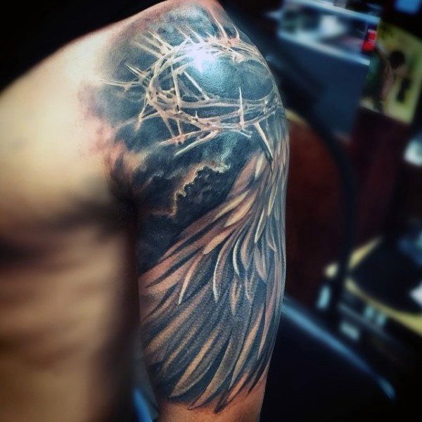 7bee83893 100 Christian Tattoos For Men - Manly Spiritual Designs | Cool swag ...