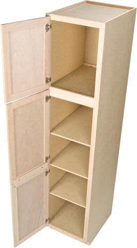 quality one 18 x 84 unfinished oak utility cabinet rh pinterest com