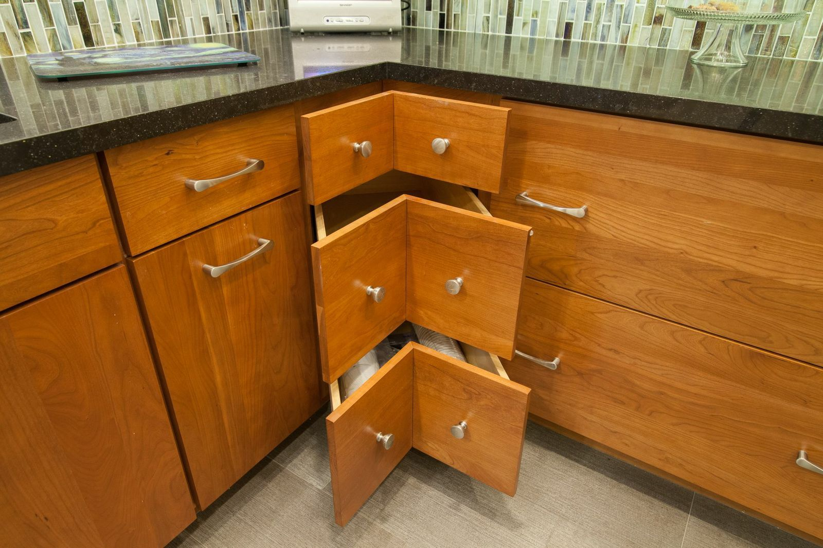 These drawers pull out farther then you think!!