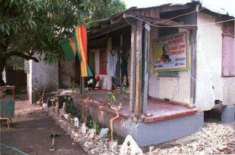 The home of the late reggae singer Bob Marley in Trench Town in Kingston, Jamaica