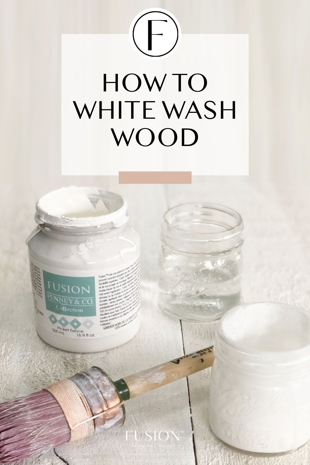 How to White Wash Wood is part of White wash wood furniture, White washed furniture, Whitewash wood, White wash, Wood furniture diy, White washed floors - Learn how to white wash wood with Fusion Mineral Paint  this tutorial provides the simple to for how to get this trendy look