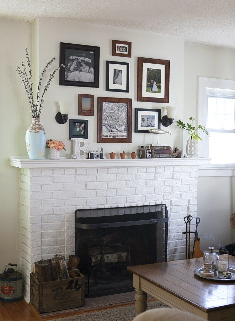 Fireplace mantel home decor how to hang a gallery wall right the first time by