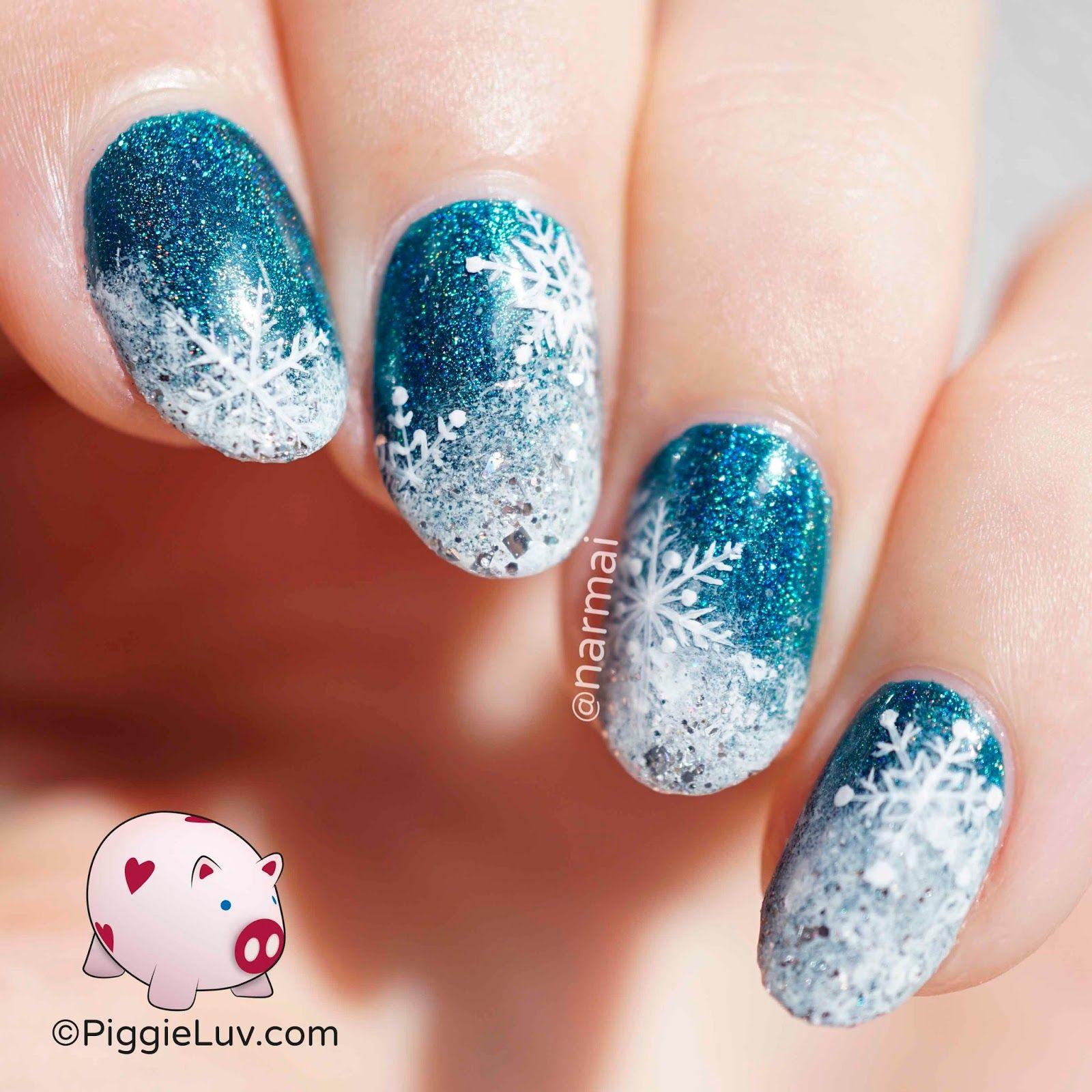 Flakage snow nail art tutorial snow nails art tutorials and snow nail art tutorial prinsesfo Images