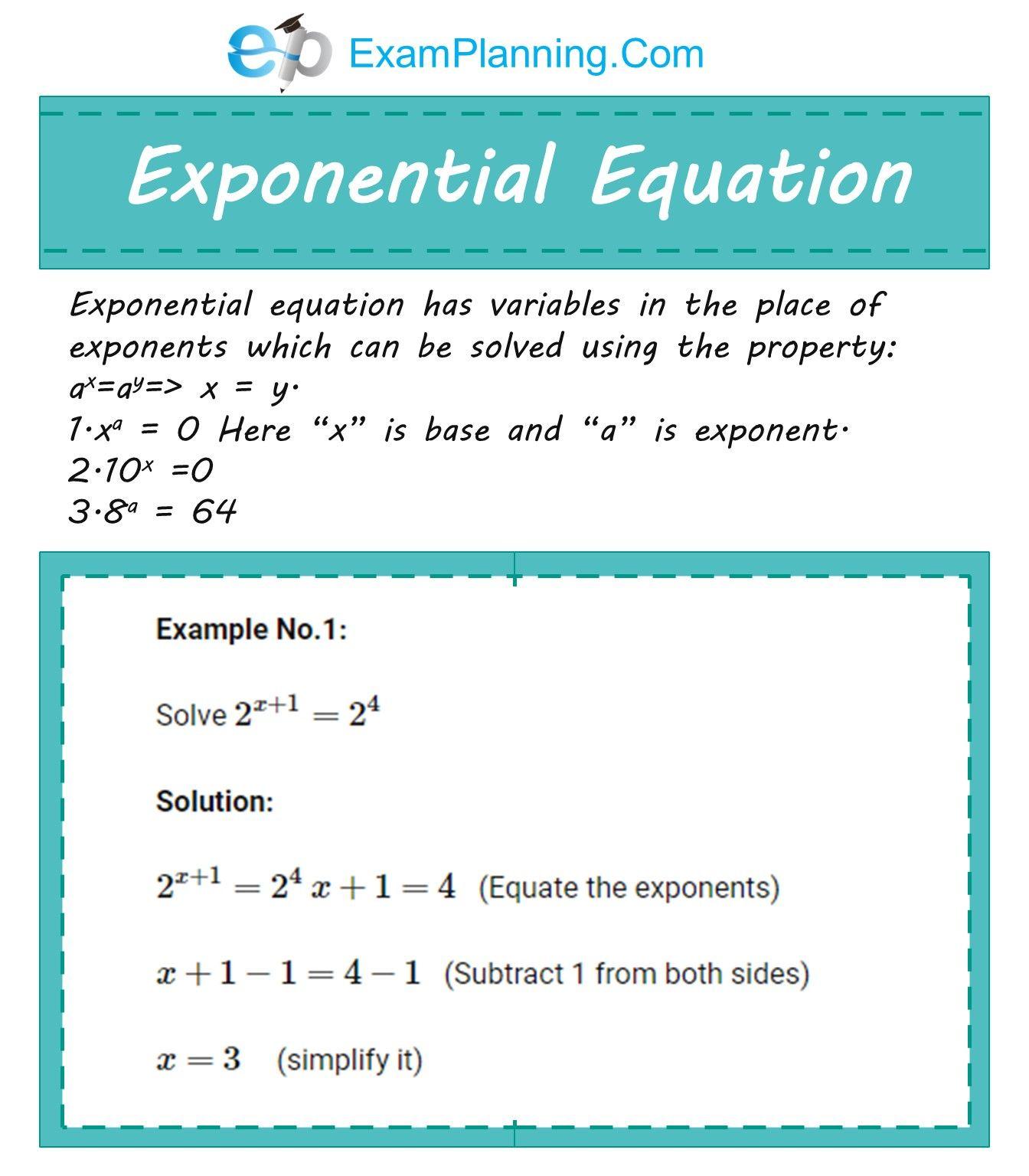 Exponential Equation Matematika
