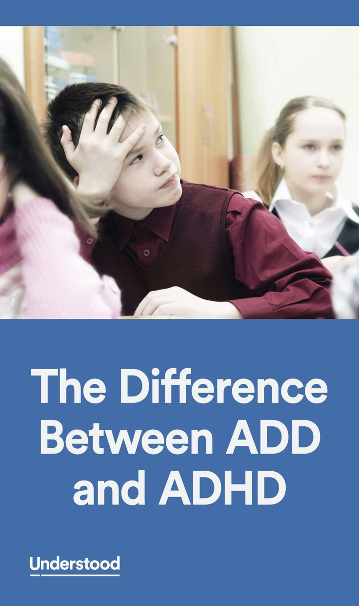 What is the difference between ADD and ADHD? Learn about ADHD and ADD and  how they relate and differ.