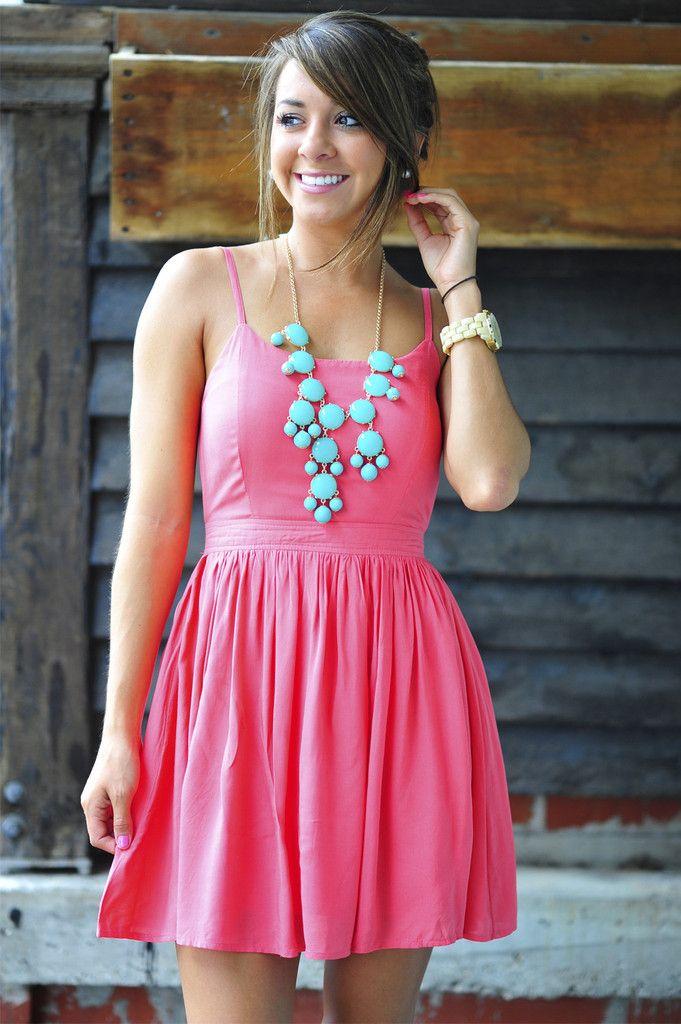 Feeling Fabulous Dress: Deep Coral   Hope's