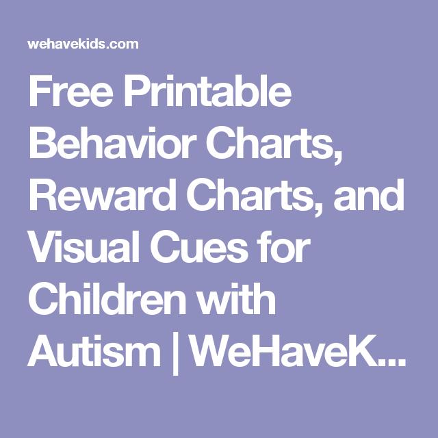 Free Printable Behavior Charts Reward Charts And Visual Cues For