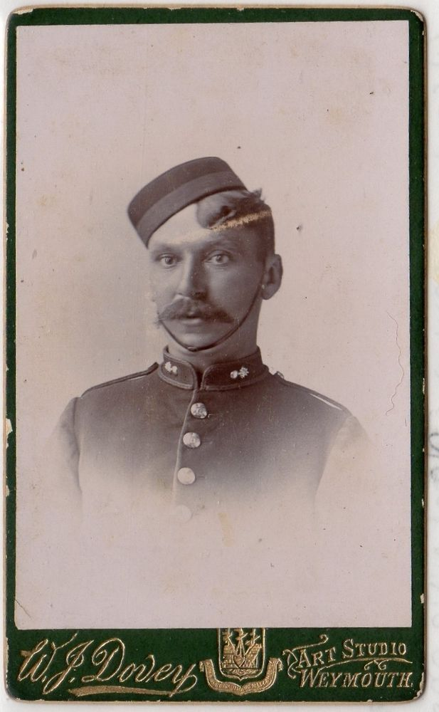 Carte De Visite Photograph Of Victorian Soldier By Weymouth Photographer C13925
