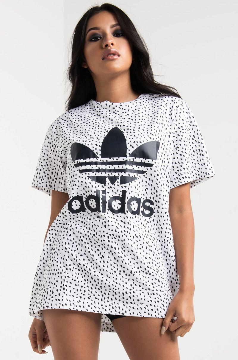 8bef45f2b6b7 adidas Spot Dot Print Women s T-shirt in White Ink