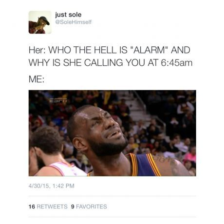 Who the hell is alarm