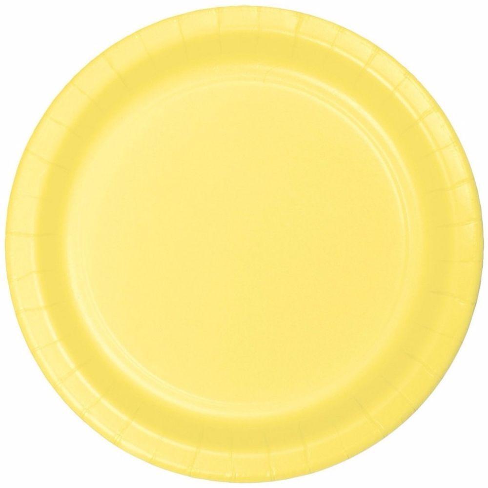 Disposable Mimosa Yellow Elegant Sturdy Style Dinner Paper Plates (Set of 24)  sc 1 st  Pinterest & Disposable Mimosa Yellow Elegant Sturdy Style Dinner Paper Plates ...