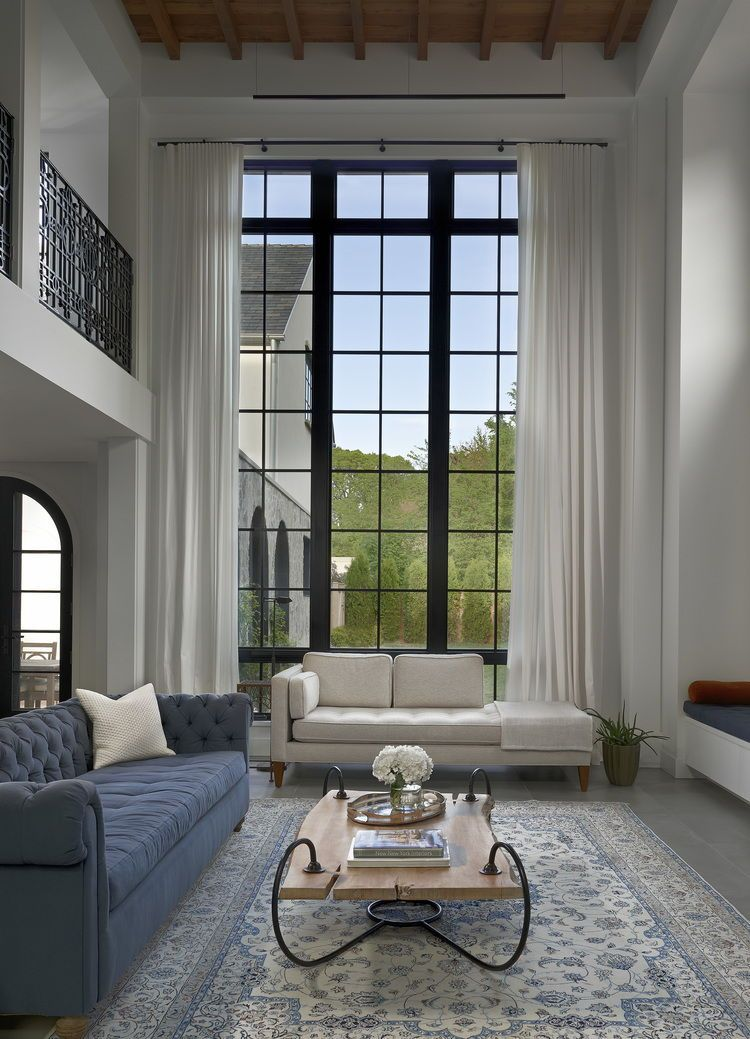 Sueno Solid Textured Window Curtain Panels Drapes White Contemporary Interior Interior Design Modern Interior Design