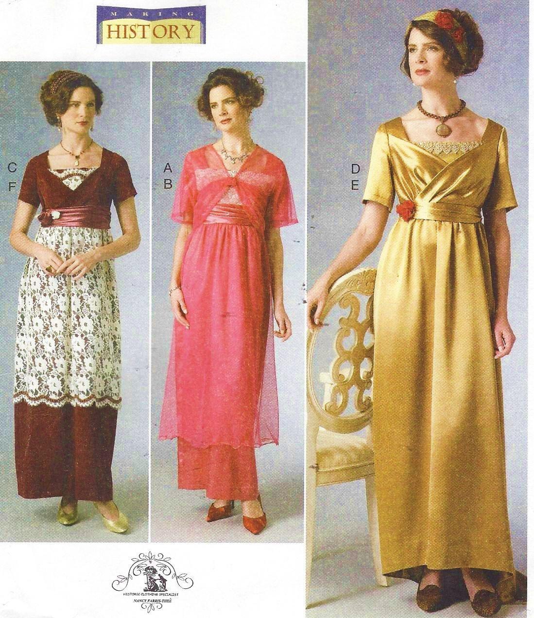 Downton Abbey Titanic Dress & Jacket Butterick Sewing Pattern B6190 ...