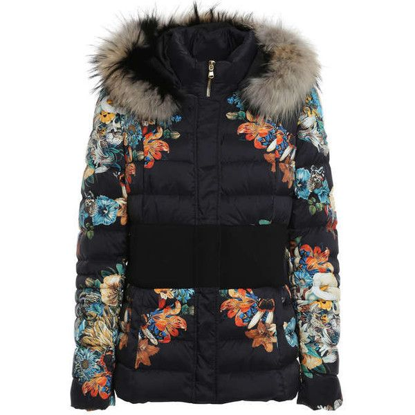 Floral print padded jacket ($1,245) ❤ liked on Polyvore featuring outerwear, jackets, padded jacket, flower print jacket, floral jacket und floral print jacket