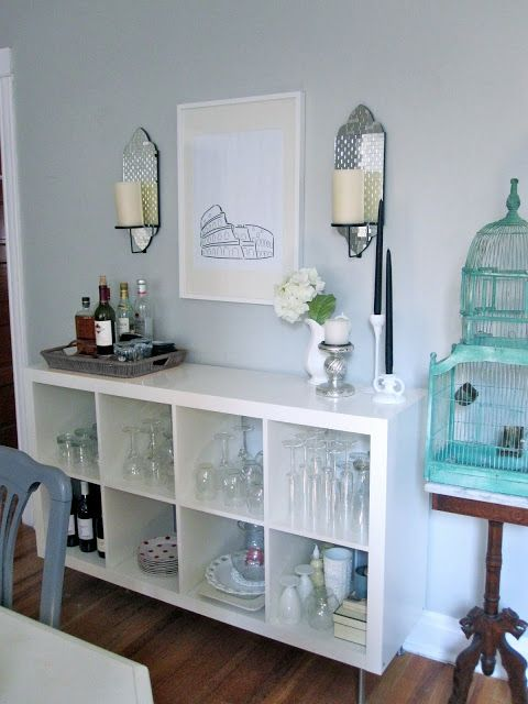 Ikea Expedit Shelf On Side Used As A Dining Room Buffet